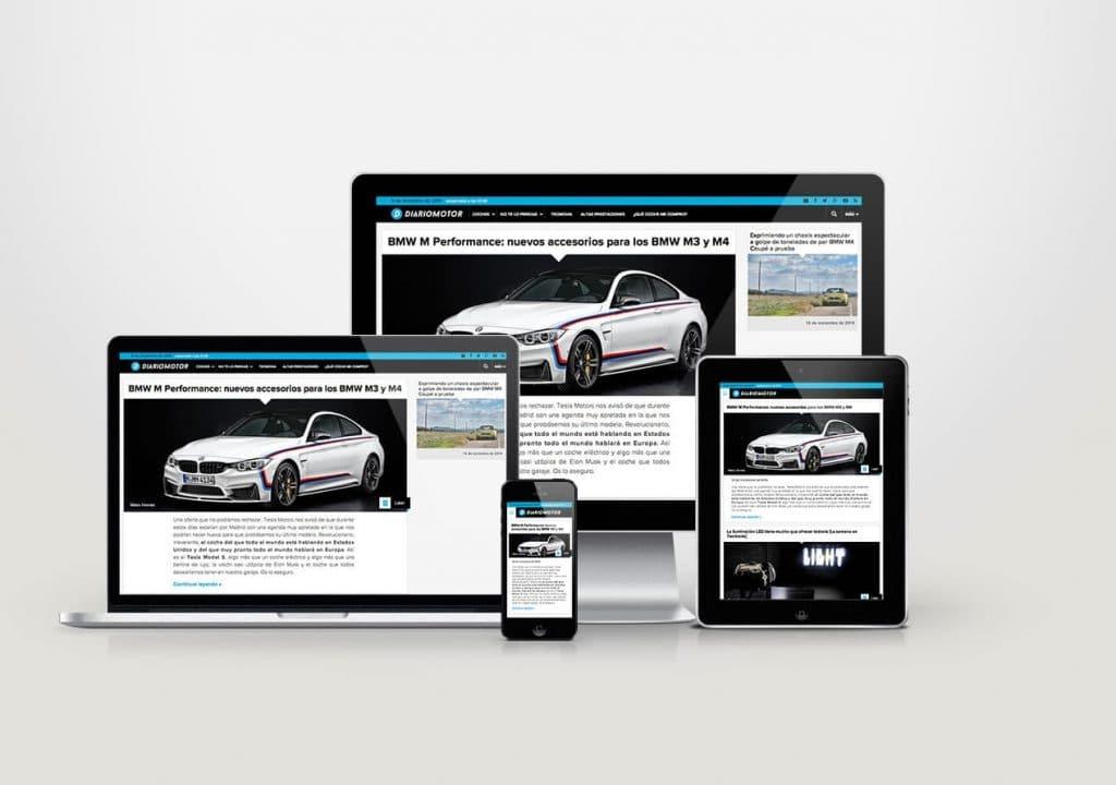 Web responsive de Diariomotor