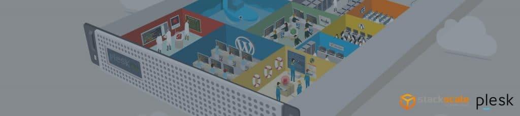 Ilustración del panel de control de Plesk