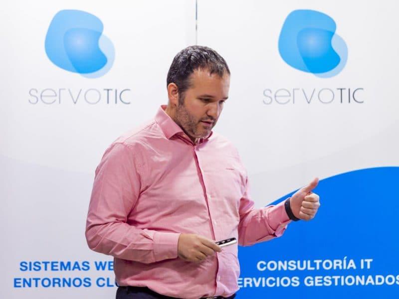 David Carrero en el evento tecnológico de Servotic en noviembre de 2019