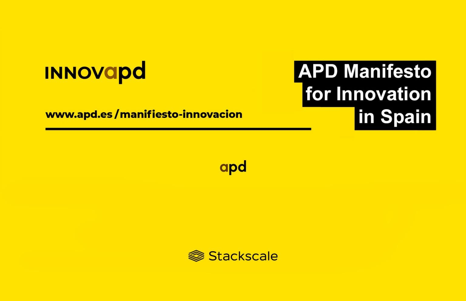 Stackscale signed the APD Manifesto for Innovation in Spain