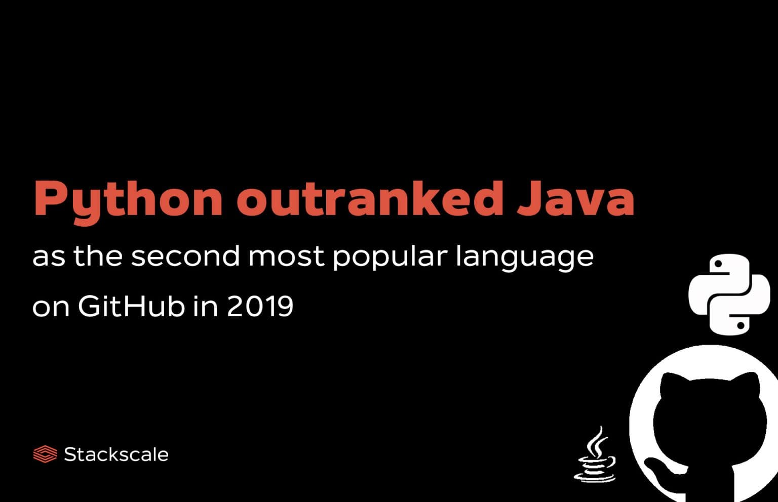 Python outranks Java on GitHub by number of repository contributors in 2019