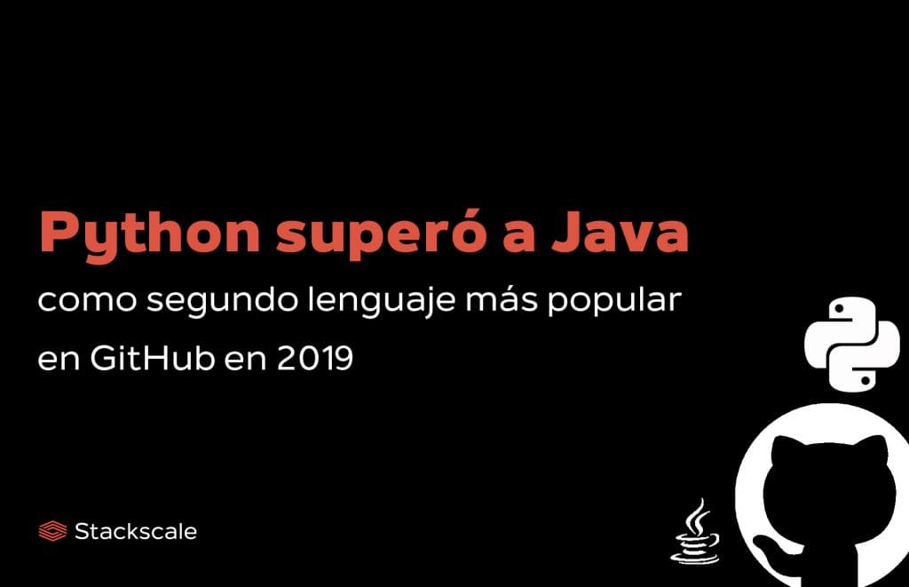 Python supera a Java en el ranking de lenguajes de programación en número de colaboradores en repositorios en GitHub en 2019