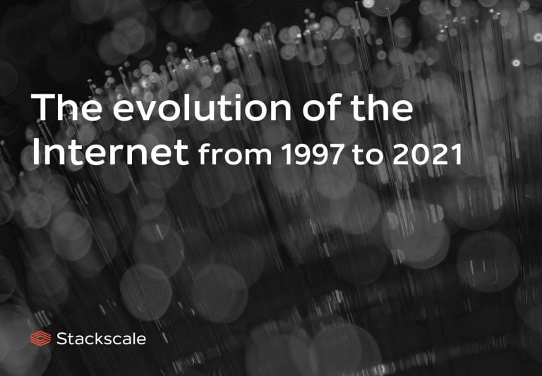 The evolution of the Internet from 1997 to 2021